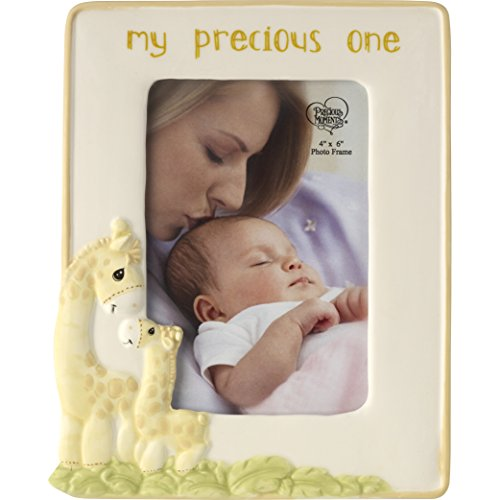 (Precious Moments My My Precious One Ceramic Giraffe Photo Frame, Pastel Yellow)