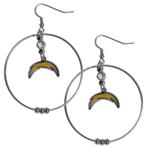 NFL San Diego Chargers Hoop Earrings, (San Diego Chargers Jewelry)