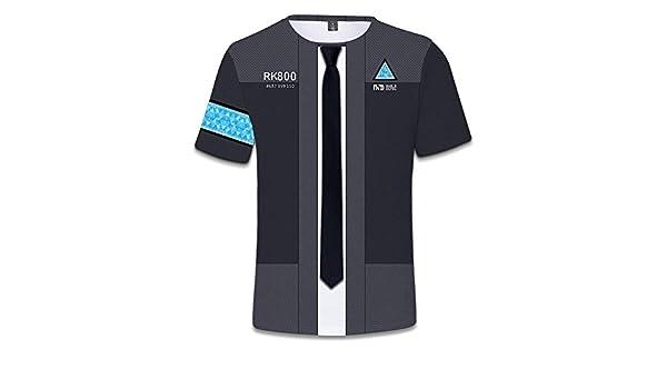 98db777e96b Amazon.com  Detroit Become Human 3D Game Style Shirt Women Men 3D T-Shirt  Clothes Plus Size 4XL  Clothing
