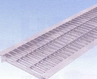 ノーブランド品 グレーチングU字溝用 180mm用KC18-25 組込式 普通目(並目) グレーチング本体