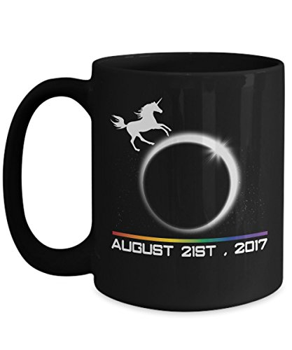 Total solar eclipse Mugs, Unicorn America's Magical Path of totality 11 oz - 15 oz Ceramic Coffee mugs, Tea cups - Funny Gift for Family, Friend on August 08 21 - Sunglasses Eclipse Are For The Safe
