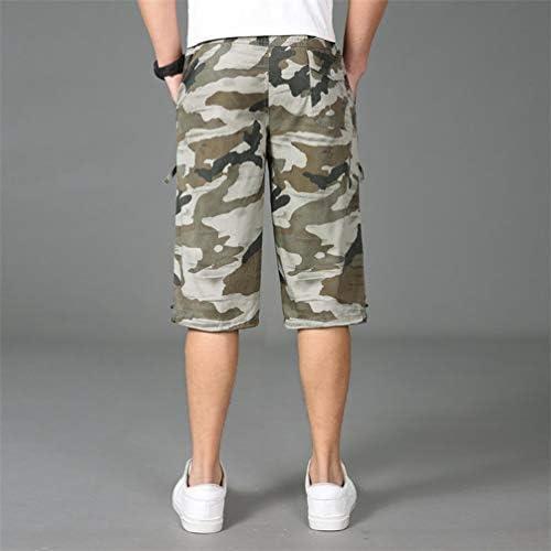 Ketamyy Uomo Estate 3//4 Pantaloncini Camuffare Gli Sport Pantaloni Bermuda Sciolto Grandi Dimensioni Pantaloni Bermuda Cotone Coulisse Vita Elastica Pantaloncini