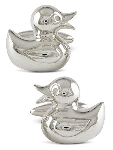 ZAUNICK Rubber Duck Cufflinks Sterling Silver by ZAUNICK
