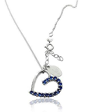 Swarovski-Kristallen Wunderschöne Halskette Saphir Herz Sterling ...