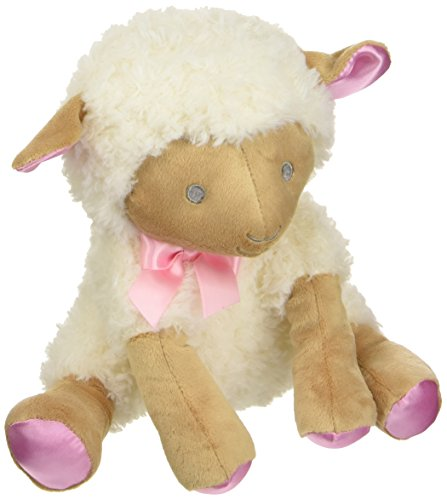 C R  Gibson Hush Little Baby Plush Lamb Musical Wind Up Toy  By Baby Dumpling  Measures 12    Pink