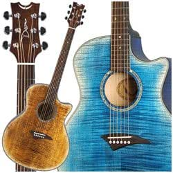 dean exotica acoustic electric guitar faded tiger eye musical instruments. Black Bedroom Furniture Sets. Home Design Ideas