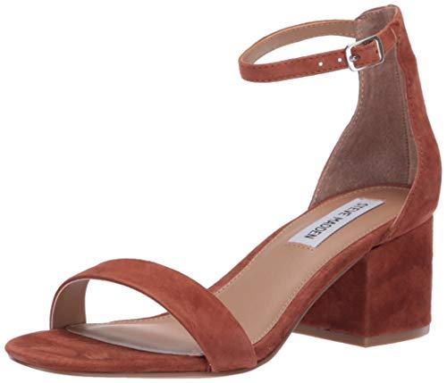 Steve Madden Women's Irenee Heeled Sandal, Chestnut Suede, 10 M US