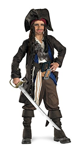 5639 (10-12) Jack Sparrow Prestige Child Costume (Jack Sparrow Boys Costume)