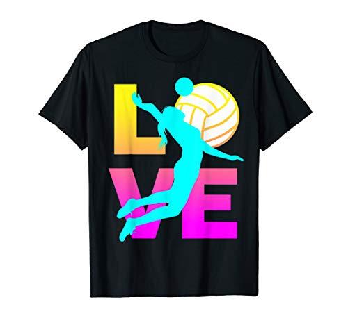 LOVE Volleyball Teen Girls Women T-Shirt