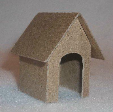 Putz Style Little Village Cardboard House-Mini Dog House- set of 2