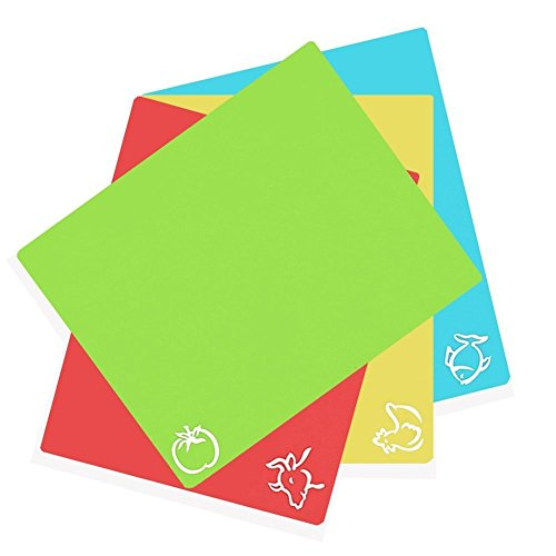 Select Beef - Highland Farms Select Extra Thick Flexible Plastic Cutting Board Mats With Food Icons &