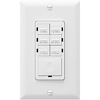 GE Push Timer Switch, 5-15-30 Minute/1-2-4 Hour Countdown