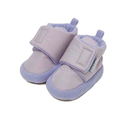 2 Paar bequeme Schuhe Cotton Schuhe Kleinkinder Schuhe für Neugeborene lila