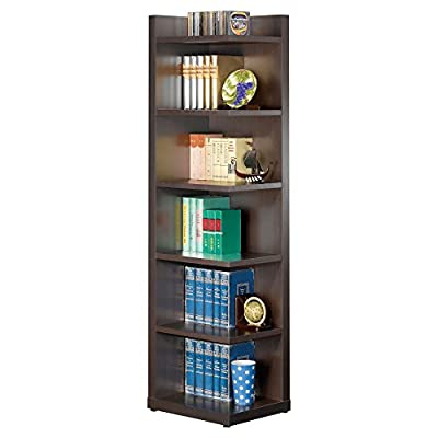 Coaster Furniture Solid Back Corner Bookcase