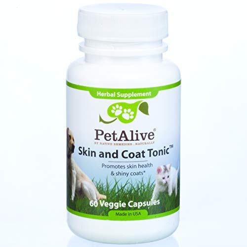 Coat Skin & Supplements - PetAlive PSKN001 Skin and Coat Tonic for Healthy Skin (60 Caps)