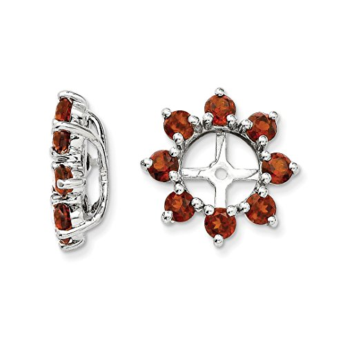 Garnet Womens Jacket - ICE CARATS 925 Sterling Silver Red Garnet Earrings Jacket Birthstone January Fine Jewelry Ideal Gifts For Women Gift Set From Heart