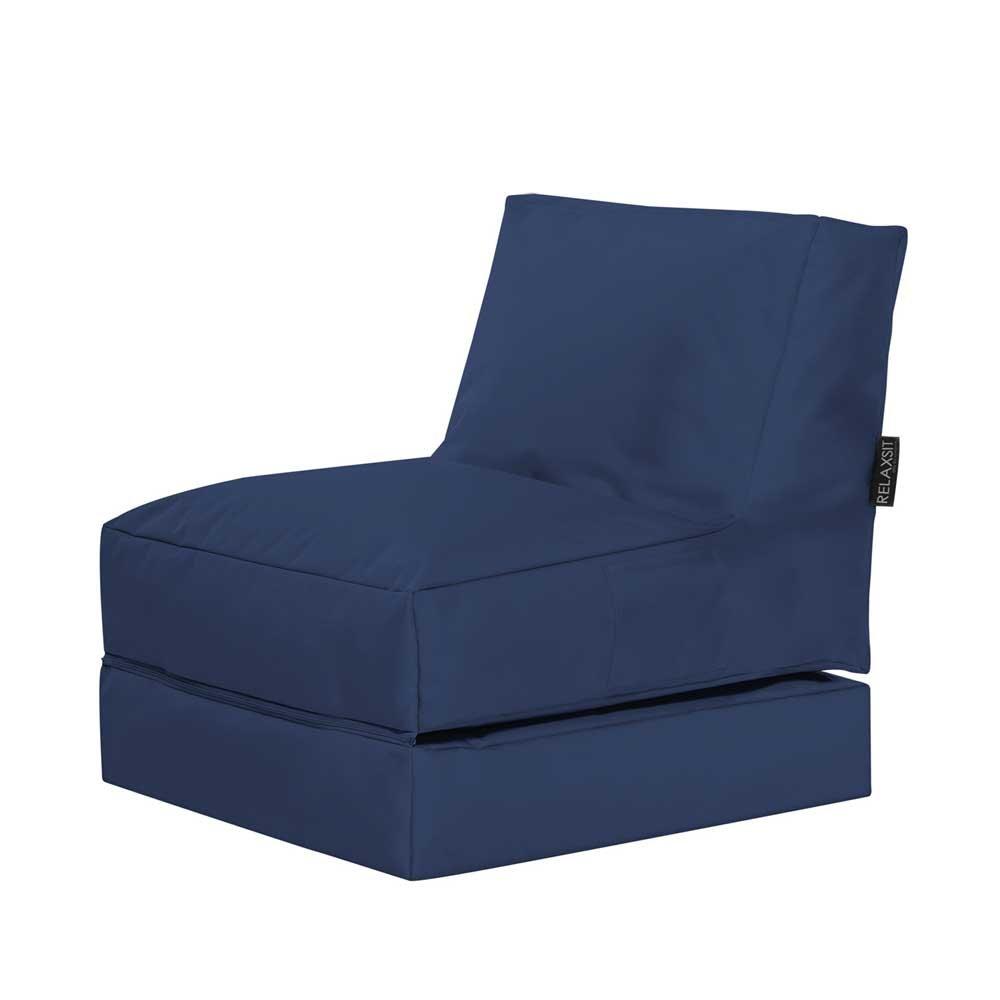 Pharao24 Outdoor Sitzsack in Blau Liege