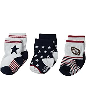 Baby-Boys Newborn 3 Pair Socks National Sport