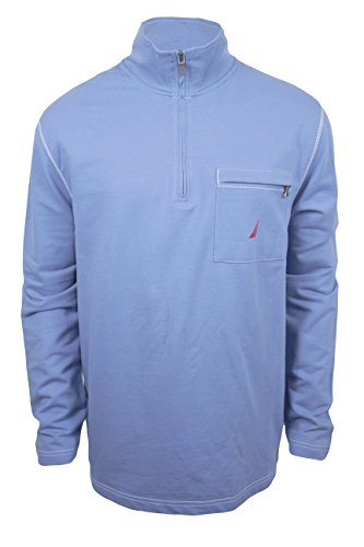 Nautica Mens Half Mock Sweatshirt