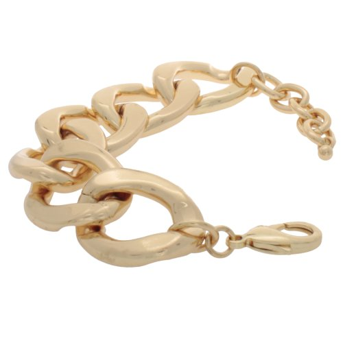Marco Francisco Designs Large Cuban Chain Bracelet with 14k Gold Overlay