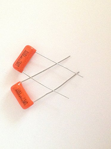 2 x .047uf 200v Orange Drop Guitar Tone Capacitors 715P Polypropylene