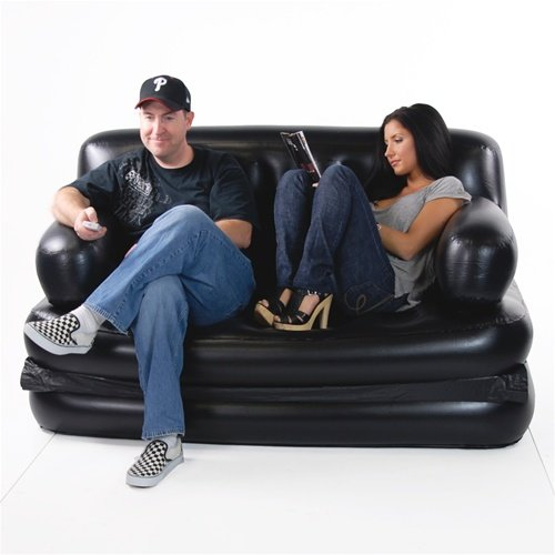 Amazon.com : Smart Air Beds Full Sized 5 X 1 Inflatable Sofa Bed, Black :  Inflatable Seating : Sports U0026 Outdoors Part 9