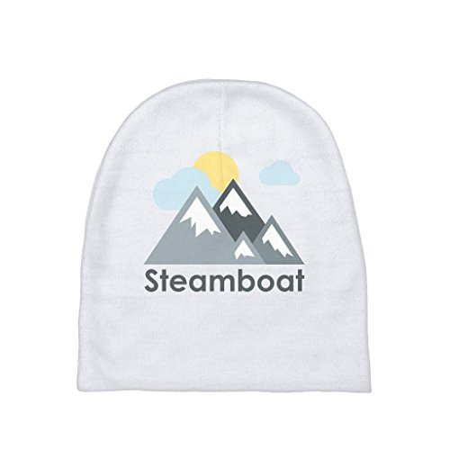 Steamboat, Colorado Mountains and Clouds in Color - Unisex Baby Beanie