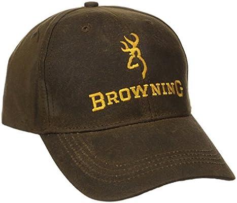 985dd036797d84 Amazon.com : Browning Dura-Wax Cap, Brown, Semi-Fitted : Baseball ...