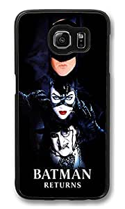 S6 Case, Batman Returns Dark Fun Ultra Fit Black Bumper Shockproof Case For Galaxy S6 Customizable Hard PC Samsung Galaxy S6