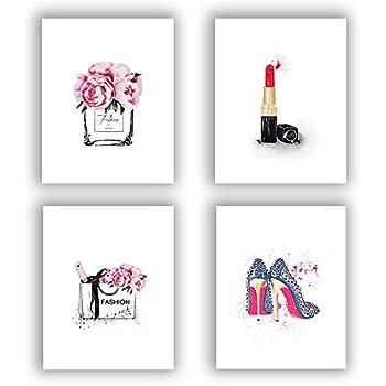 Fashion Women Art Print Set of 4 (10
