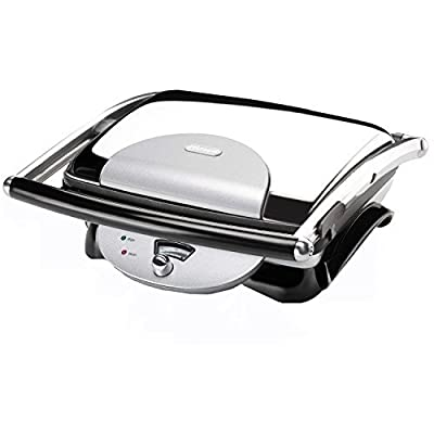 Delonghi Panini Press & Indoor Grill with Large NON-STICK Cooking Surface, Adjustable Thermostat and Convenient Storage