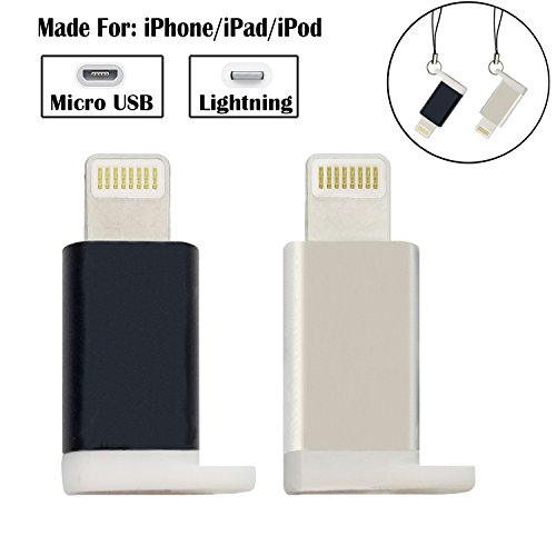iPhone to Android Adapter, HkittyXiong Apple Lightning to Micro USB Cable Adaptor Charge Sync Connector for Smartphone, Tablet, GPS, Power Bank Through Apple Lighting Cable (Lightning)