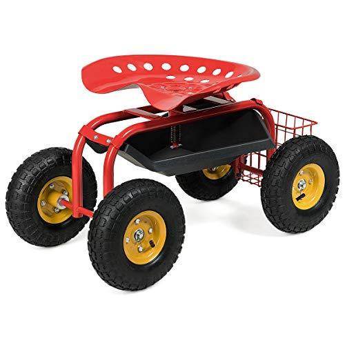 Goplus Garden Cart Rolling