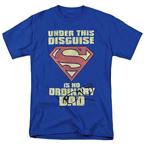 Superman No Ordinary Dad T Shirt for Father's Day & Exclusive Stickers (Medium)]()