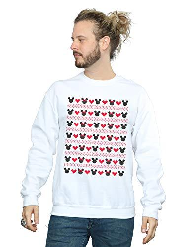 Disney Blanco Hombre Hearts Camisa And Entrenamiento Christmas Mickey De Minnie 717nqwrBz