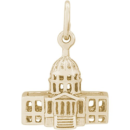 Rembrandt Charms 14K Yellow Gold US Capitol Building Charm (9.5 x 14 mm)