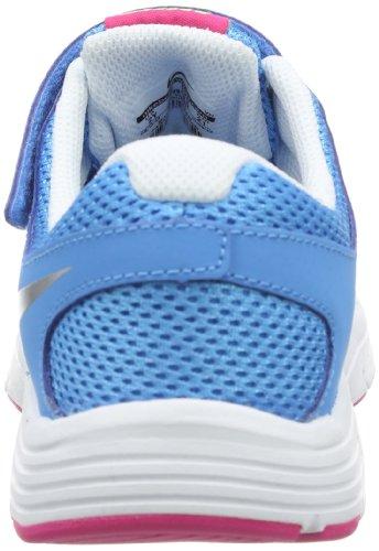 Nike Kids Fusion Run 2 599799-401 - Zapatillas de cuero, color azul, talla 27.5 Azul - Blue - Blau (Vivid Blue/Metallic Silver-Volt Ice-Vivid Pink)