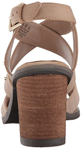 Dr. Scholl's Women's Precise Heeled Sandal Putty Microsuede Snake Print A5TbJby3V