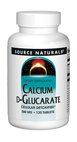 (Source Naturals Calcium D-Glucarate 500mg - 120 Tablets)