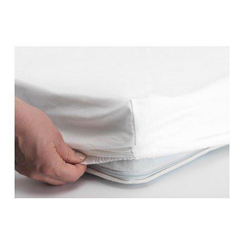 Ikea Len/ /S/ábana bajera para cuna; en blanco y rosa; 100/% algod/ón; 60/x 120/cm ; 2/unidades