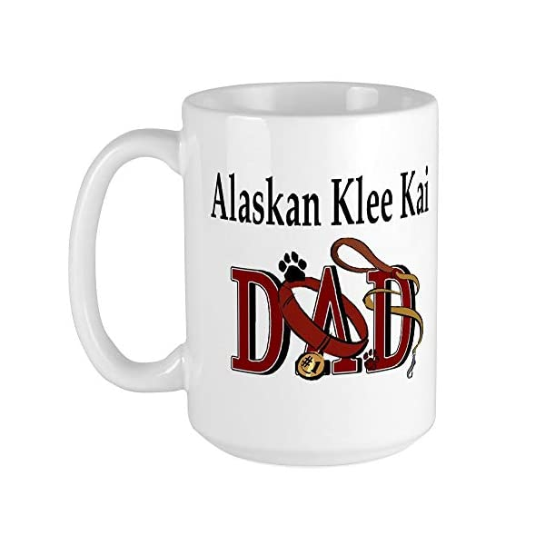CafePress Alaskan Klee Kai Large Mug Coffee Mug, Large 15 oz. White Coffee Cup 1