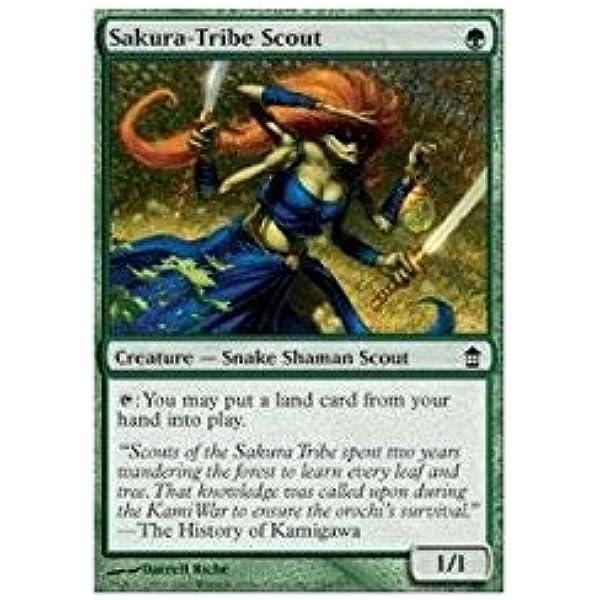 4x Sakura-Tribe Scout x4 MTG Saviors of Kamigawa LP