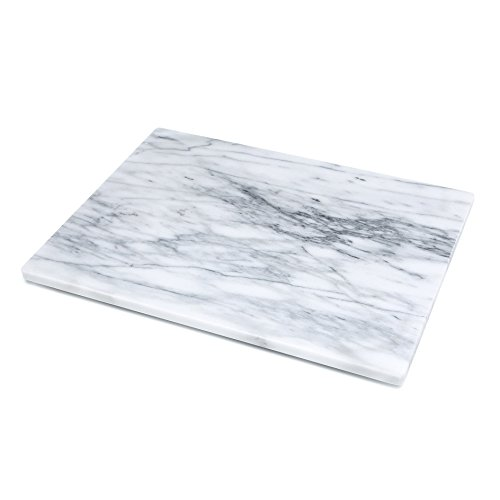 "Kitchen Collection Marble Pastry Board 16""x12"" - White"
