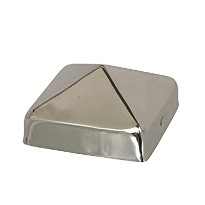 "Stainless Steel Pyramid Post Cap by Captiva - Fence & Deck Protection - Weather-Ready Metal - 4x4, Full 4"", 5x5, 4x6, 6x6, 8x8"