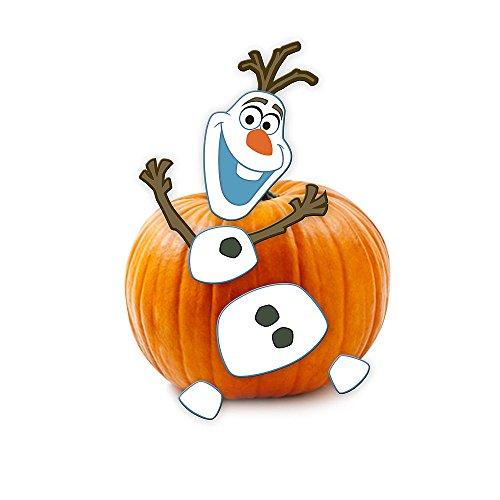 Pumpkin Push-Ins Disney Olaf Halloween Wooden Pumpkin ()