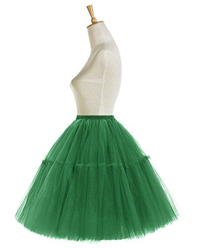 Bridesmay Faldas Cortas De Mujer Cancan Enagua Para Fietsa Boda Green