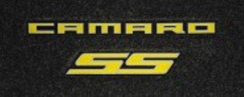 Chevrolet Camaro SS Floor Mats & Trunk Mat Dual Yellow Logos with Yellow Binding 2010 2011 2012 2013 High-End