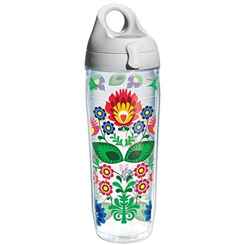 Heritage Water Bottle (Tervis Folk Heritage Water Bottle, 24 oz, Clear)