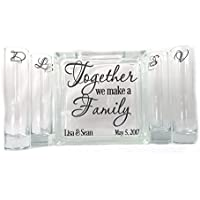 Personalized Blended Family Sand Unity Ceremony Set - Together We Make a Family - 6 pouring vases