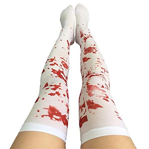 VRL Halloween 2018 Funny Cosplay Clothes Knee Stockings Blood, Nurse, Skeleton Bone -